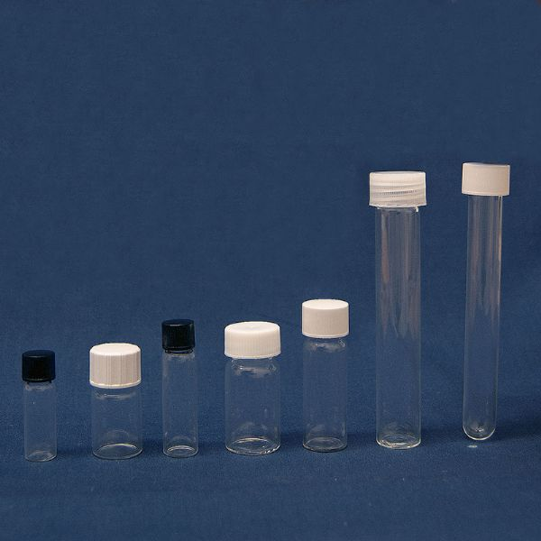 Buy Glass Flat Bottom Tubes & Screw Caps